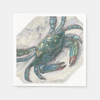 Blue Crab Paper Napkins