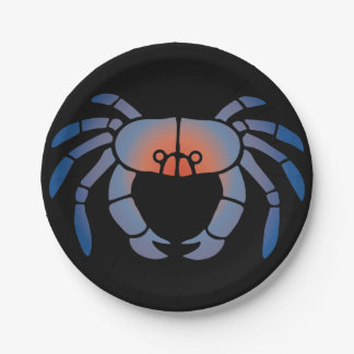 Blue Crab Seafood Feast 7 Inch Paper Plate