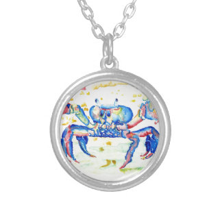 Blue Crab Silver Plated Necklace