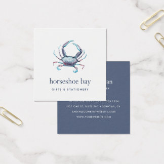 Blue Crab Square Business Card