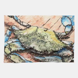 Blue Crab Tea Towel