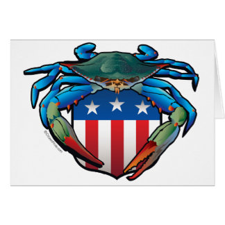 Blue Crab USA Crest Card
