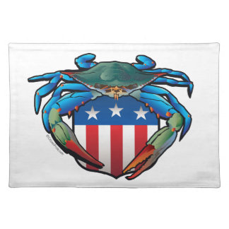 Blue Crab USA Crest Placemat