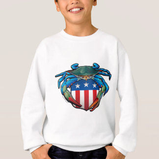 Blue Crab USA Crest Sweatshirt