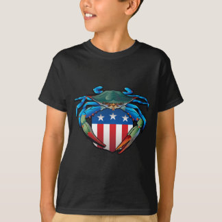 Blue Crab USA Crest T-Shirt