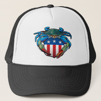 Blue Crab USA Crest Trucker Hat