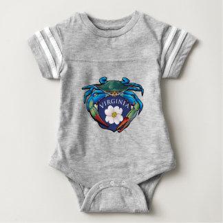 Blue Crab Virginia Dogwood Blossom Crest Baby Bodysuit