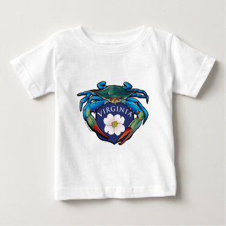 Blue Crab Virginia Dogwood Blossom Crest Baby T-Shirt