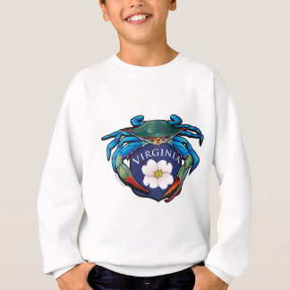 Blue Crab Virginia Dogwood Blossom Crest Sweatshirt