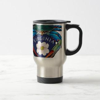Blue Crab Virginia Dogwood Blossom Crest Travel Mug