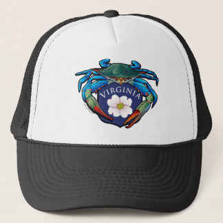 Blue Crab Virginia Dogwood Blossom Crest Trucker Hat