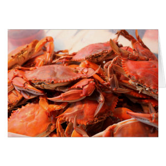 Blue Crabs Feast Blank Notecard