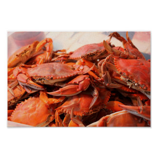 Blue Crabs Feast Poster