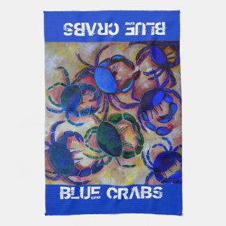 Blue Crabs Kitchen Towel