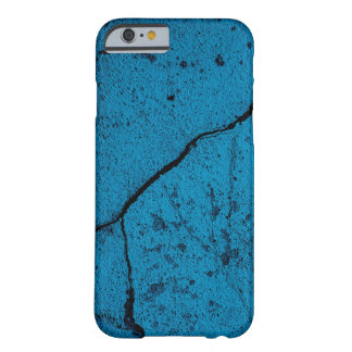 Blue cracked wall background barely there iPhone 6 case
