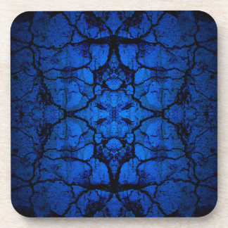 Blue cracked wall pattern coaster