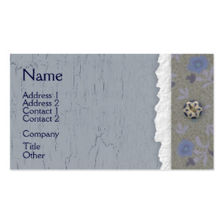 Blue Crackle Business Card