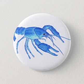 Blue Crawfish 6 Cm Round Badge