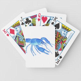Blue Crawfish Bicycle Playing Cards
