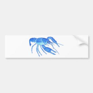 Blue Crawfish Bumper Sticker