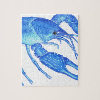 Blue Crawfish Jigsaw Puzzle