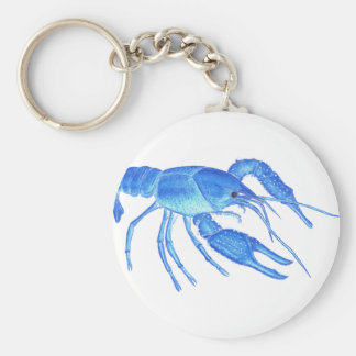 Blue Crawfish Key Ring