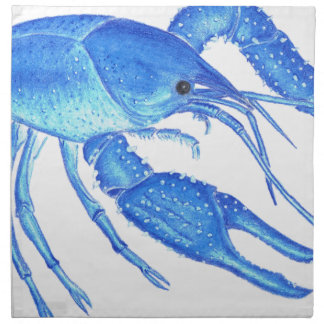 Blue Crawfish Napkin