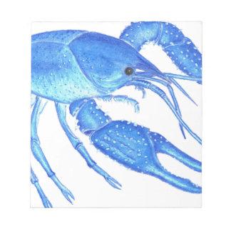 Blue Crawfish Notepad