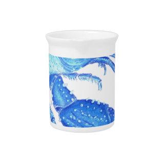 Blue Crawfish Pitcher