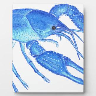 Blue Crawfish Plaque