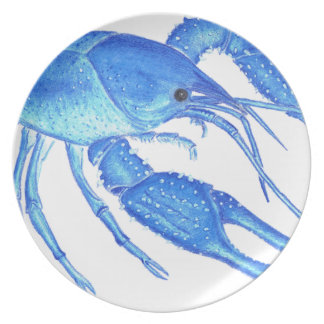 Blue Crawfish Plate