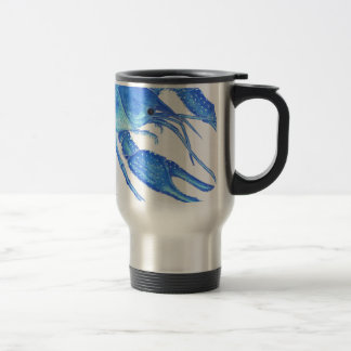 Blue Crawfish Travel Mug
