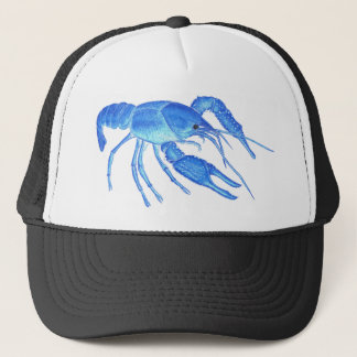 Blue Crawfish Trucker Hat