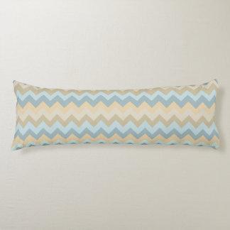 Blue Cream Chevron Stripes Body Cushion