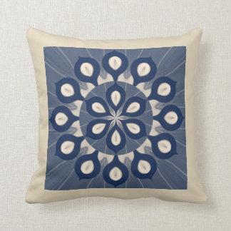 Blue Cream Maholika Pillow