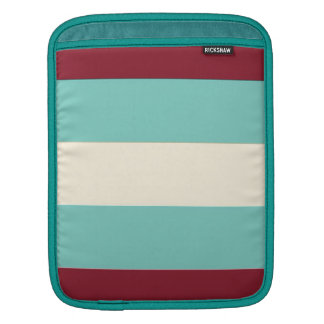 Blue Cream Stripes Pattern Sleeves For iPads
