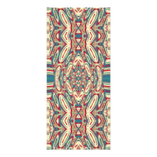 Blue Cream Vintage Abstract Pattern Rack Cards
