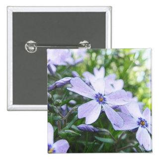 Blue Creeping Phlox Up Close Pinback Buttons