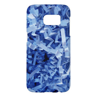 Blue Crinkled Shredded Paper Photograph