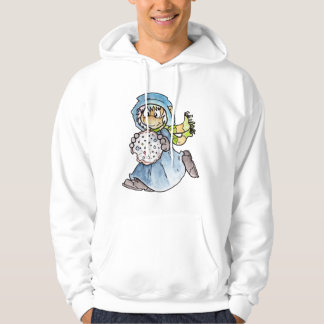 Blue Critter Hooded Pullover