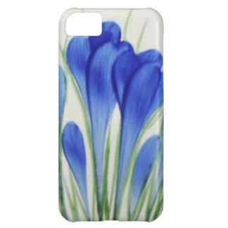 Blue crocus detail from a teapot iPhone 5C case