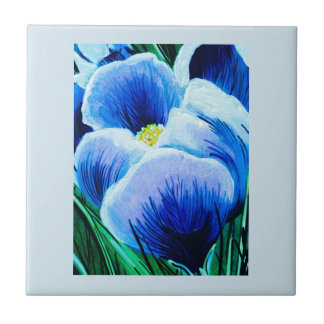 Blue Crocus Tile
