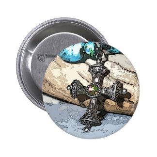 Blue Cross Pinback Buttons