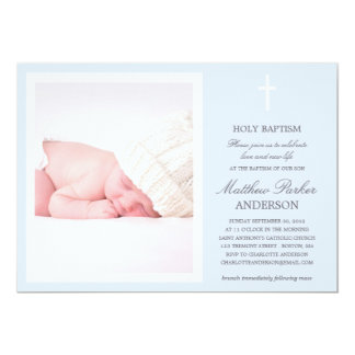 "BLUE CROSS | BAPTISM INVITATION 5"" X 7"" INVITATION CARD"