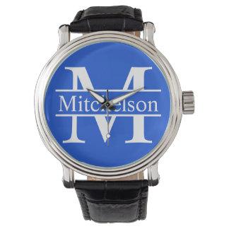 Blue Cross Bar LR Monogram Watch