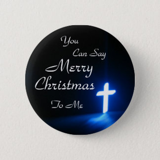 blue-cross-on-at-a-church, You , Can Say, Merry... 6 Cm Round Badge