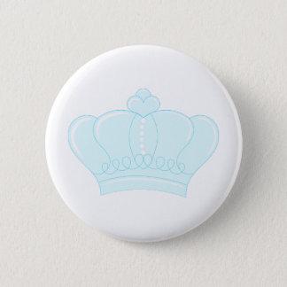 Blue Crown 6 Cm Round Badge
