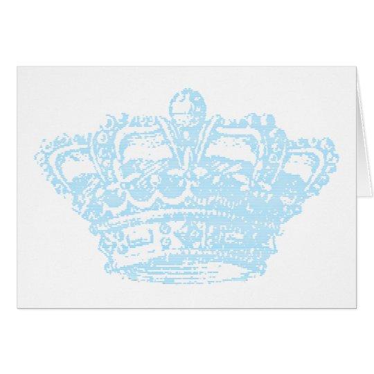 Blue Crown Greeting Card