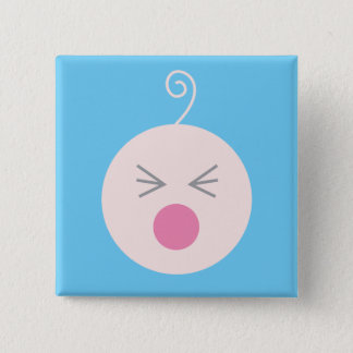 Blue Cry Baby Button