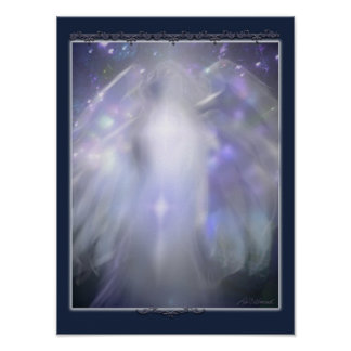 blue crystal angel poster